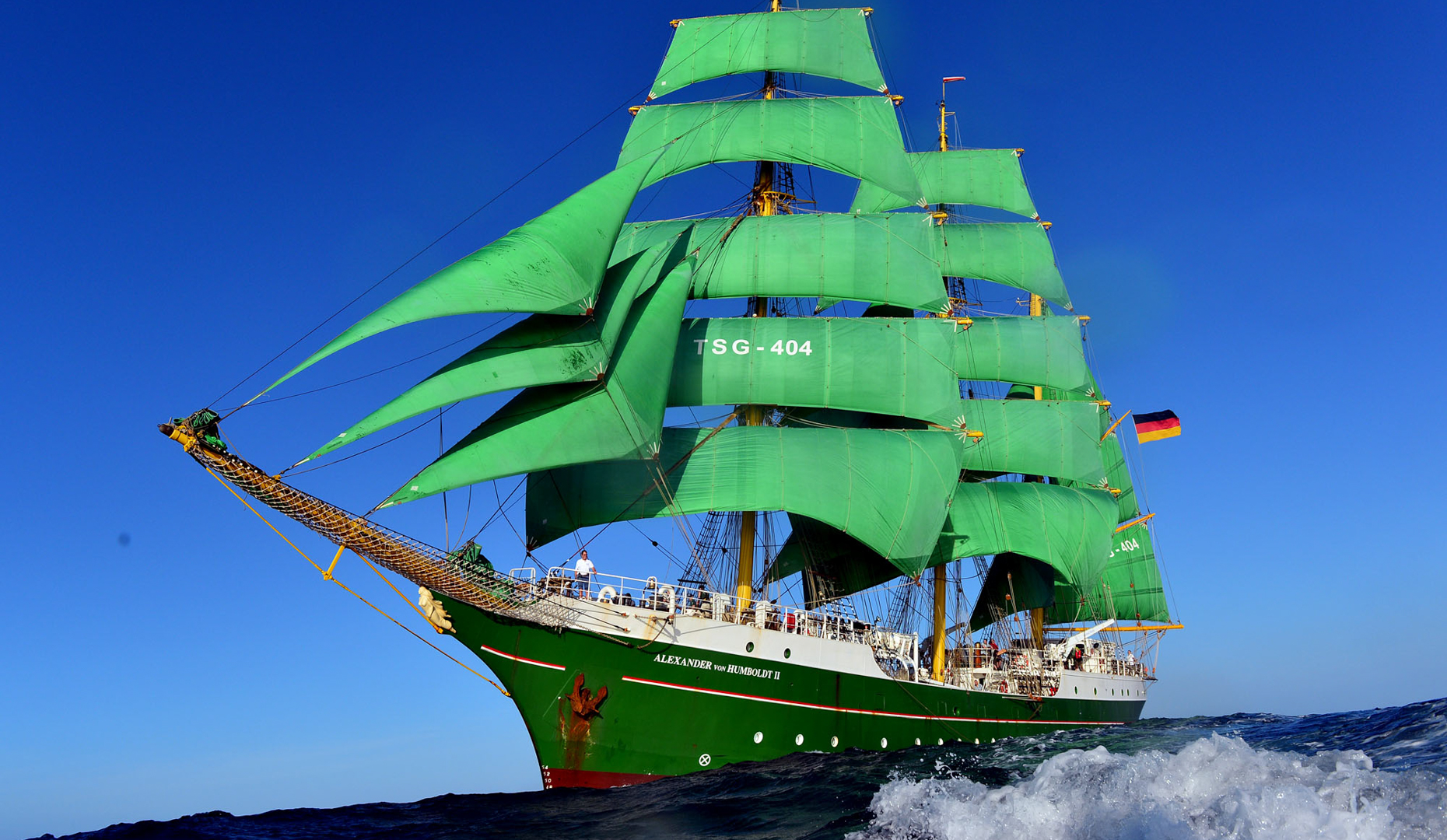 """3 Mast Bark """"Alexander von Humboldt 2"""" unter Segeln"""
