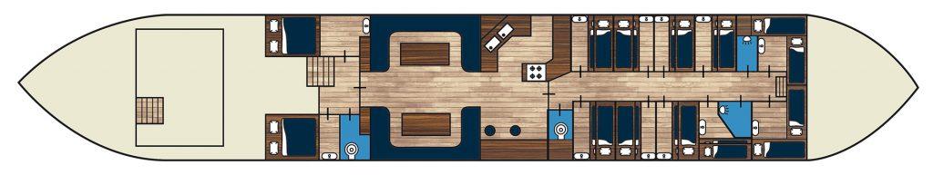 Kabinen plan des Mast Klippers Alida