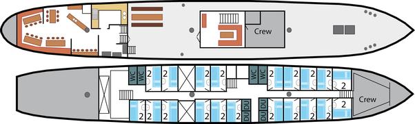 2 Mast Schoner Noorderlicht Schiffsplan