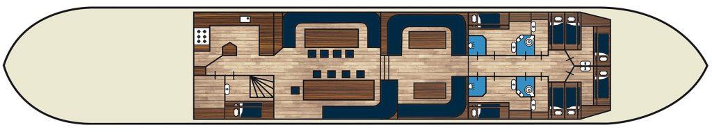 2 Mast Klipper Pegasus Kabinenplan