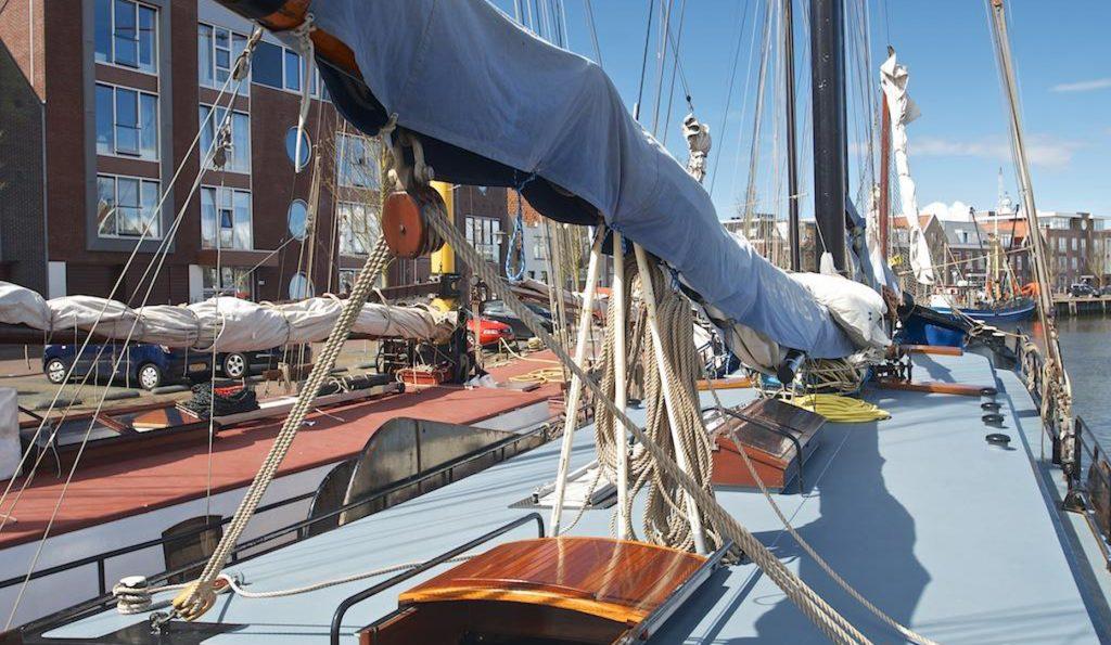 2 Mast Klipper Poolster Decksansicht
