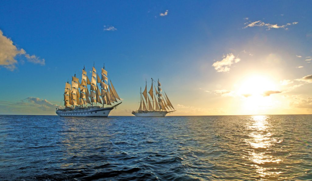 5 Mast Vollschiff Royal Clipper in Company