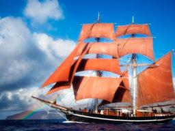 Segeltörn Kieler Woche zeigt die Brigg Eye of the Wind
