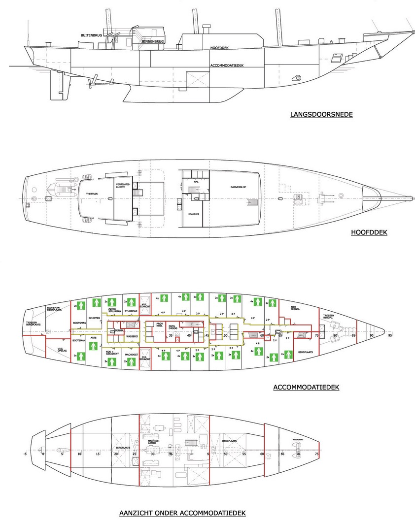Bild zeigt Decksplan der Eendracht