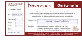 Gutschein mit festgebuchtem Termin, Versand per Mail: MERCEDES / ELDORADO