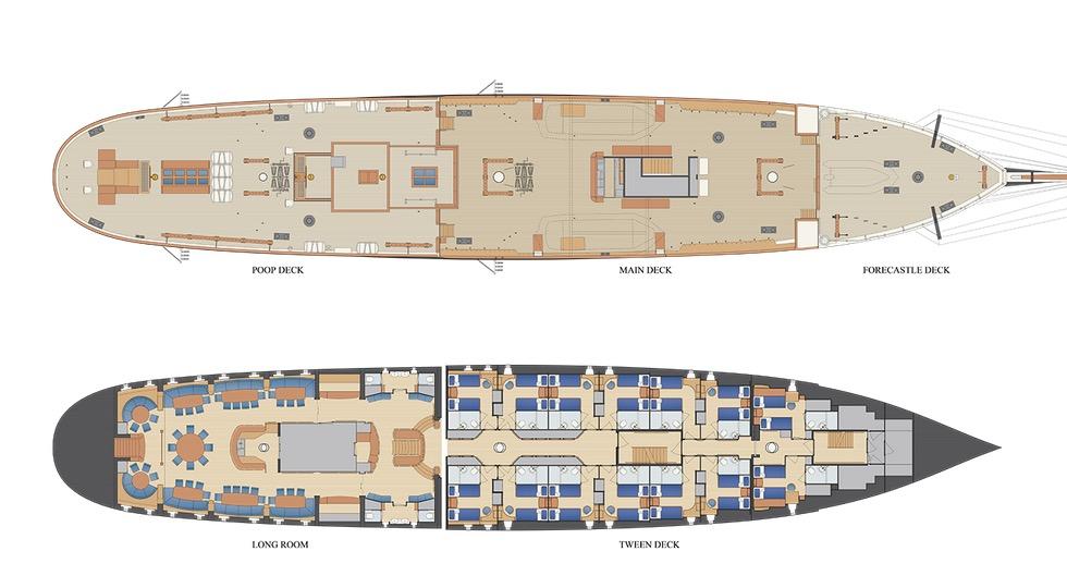 Decksplan der Stad Amsterdam