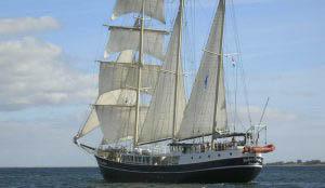 Segelreisen Pedro Donker Bild zeigt das Schiff von achtern