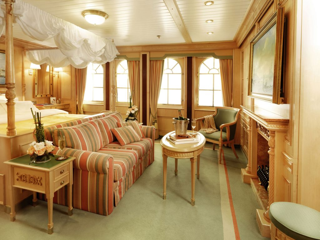 Bild zeigt Owners Cabin der Sea Cloud 2