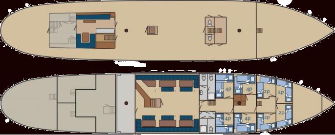 Kabinenplan Segelschiff Morgenster