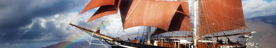 Segelrevier Atlantik Bild zeigt Traditionsschiff Eye of the Wind