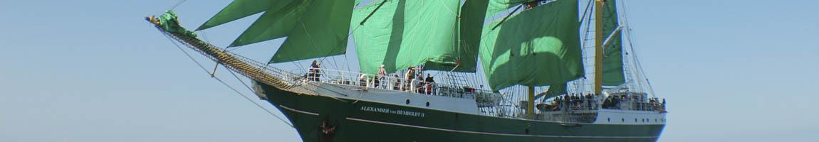 Segelrevier Barentsee Bild zeigt das Ausbildungsschiff Alexander von Humboldt 2