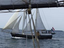 Segeltouren Meander zeigt das Schiff segelnd