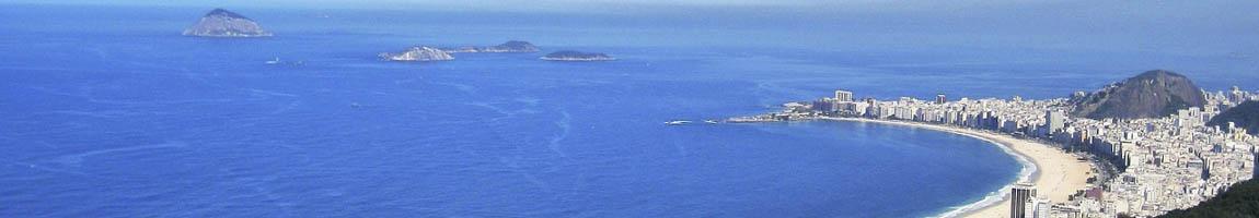 Segeltörn Brasilien Bild zeigt die Bucht von Rio de Janeiro