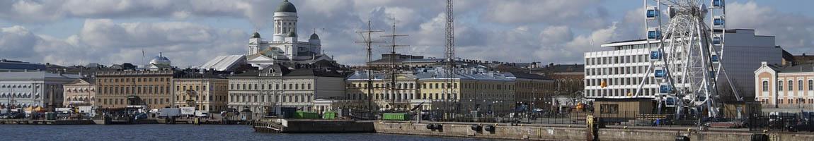 Segeltörn Finnland Bild zeigt Skyline von Helsinki