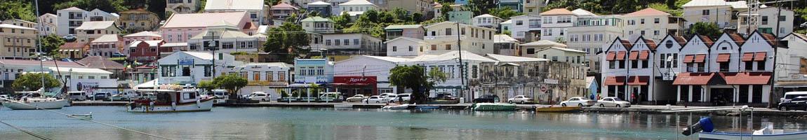 Segeltörn Grenada Bild zeigt Hafenszenario