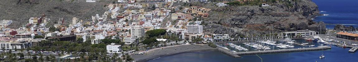 Seereisen Kanarische Inseln Bild zeigt den Hafen von San Sebastian de la Gomera