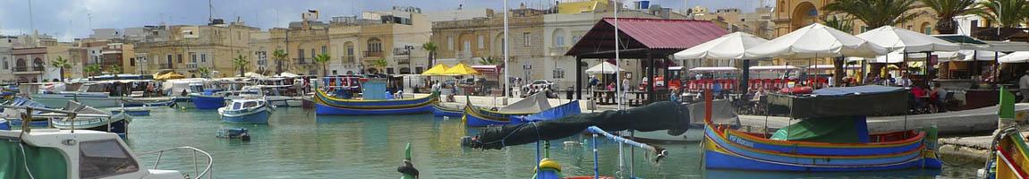 Segeltörn Malta Bild zeigt Skyline von Valetta