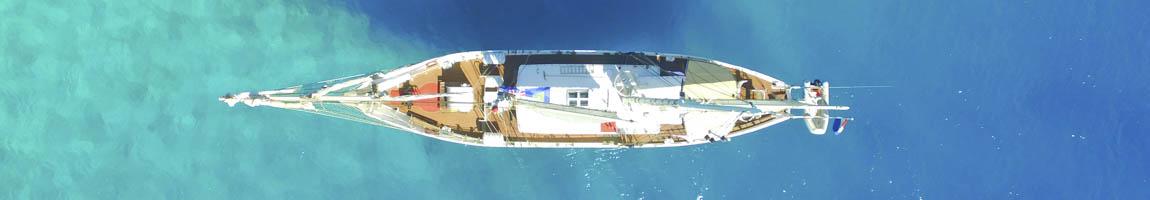 Segeltörn Mustique Bild zeigt eine Luftaufnahme der Eldorado