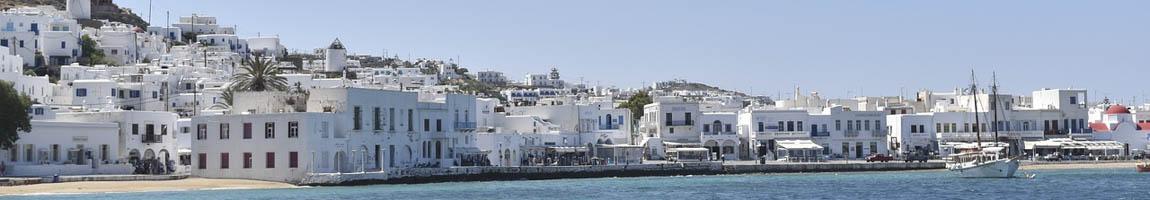 Segeltörn Mykonos Bild zeigt Hafen Szenerie