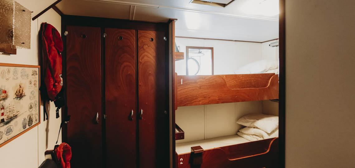 Bild zeigt eine Kabine der Eendracht