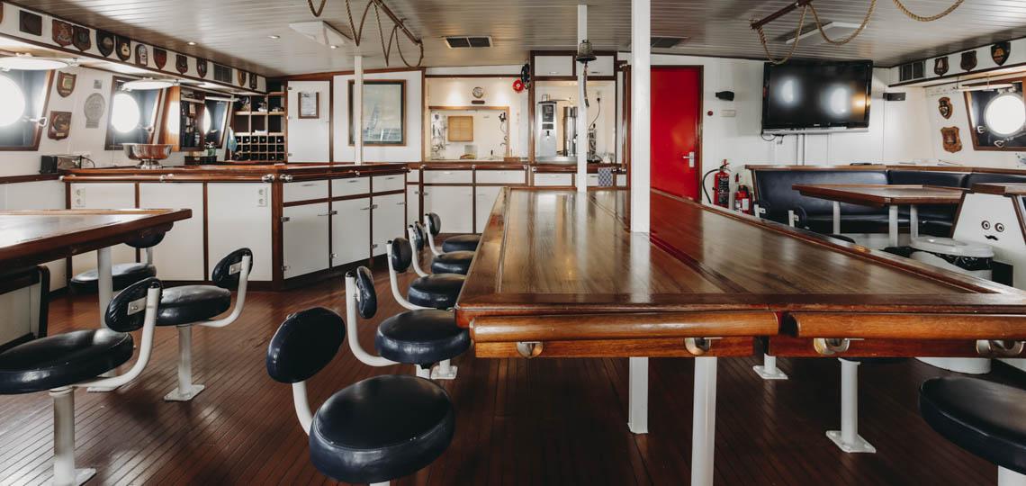 Bild zeigt Salon des Schiffes Eendracht