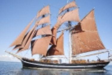 Kiel Kopenhagen zeigt das Schiff Eye of the Wind
