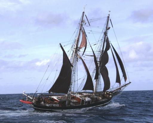 Nordsee Segeln zeigt die Eye of the Wind