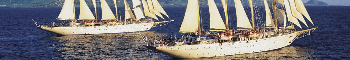 Segelkreuzfahrtschiffe chartern, mieten und mitsegeln zeigt Schiffe der Star Cruises