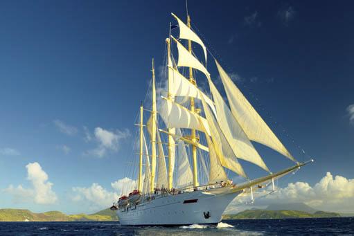 Segelkreuzfahrt Thailand, Malaysia, Singapur zeigt die Star Clipper