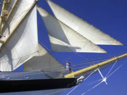 Segelkreuzfahrt Phuket - Singapur zeigt Detail der Star Clipper