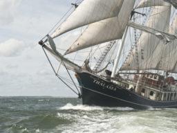 Meilentörns auf der Thalassa zeigt das Segelschiff