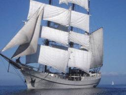 Süddänische Inseln Artemis zeigt das Schiff unter Segeln