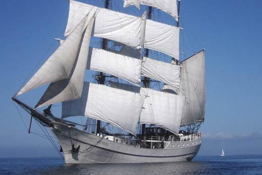 Süddänische Inseln das Segelschiff unter Segeln