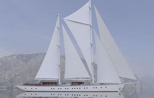 One Way Törns in der Karibik zeigt die Segelyacht Rhea