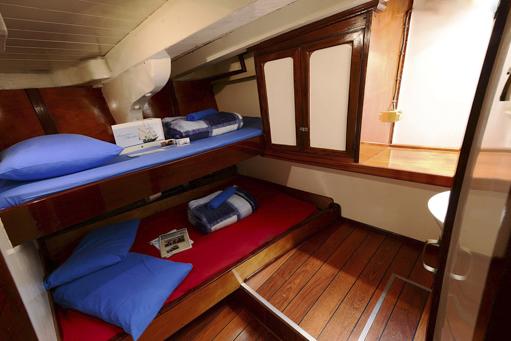 Eine Kabine im Segelschiff Florette