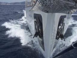 Kroatische Adria Bild zeigt den Bug von einem Segelschiff