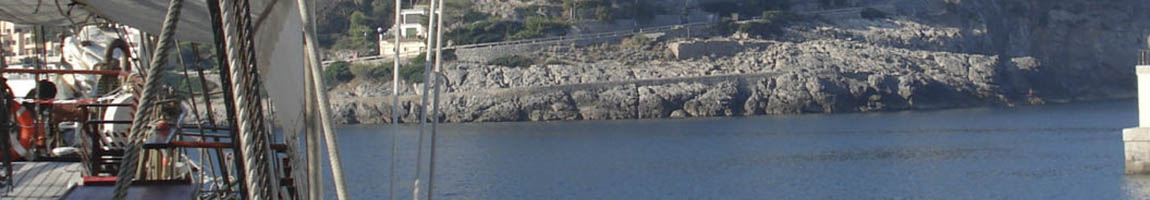 Segeln Mittelmeer zeigt einen Ausschnitt der Mallorca Küste