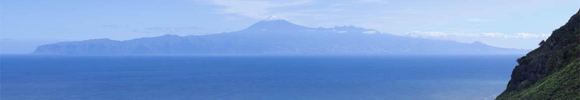 One Way Törns zeigt den Teide von La Gomera gesehen