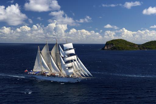 Star Clipper Bali Kreuzfahrt zeigt das Segelschiff