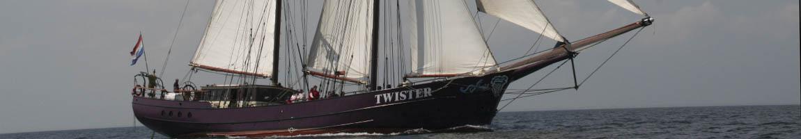 Traditionssegler und Traditionsschiffe chartern zeigt die Twister