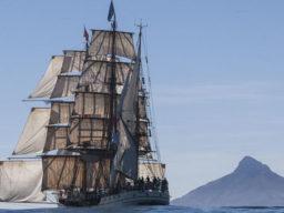 Von Urugay nach Chile segeln zeigt die Bark Europa