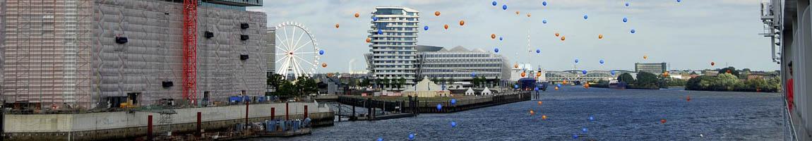Hafenfest Hamburg zeigt Hamburg Panorama