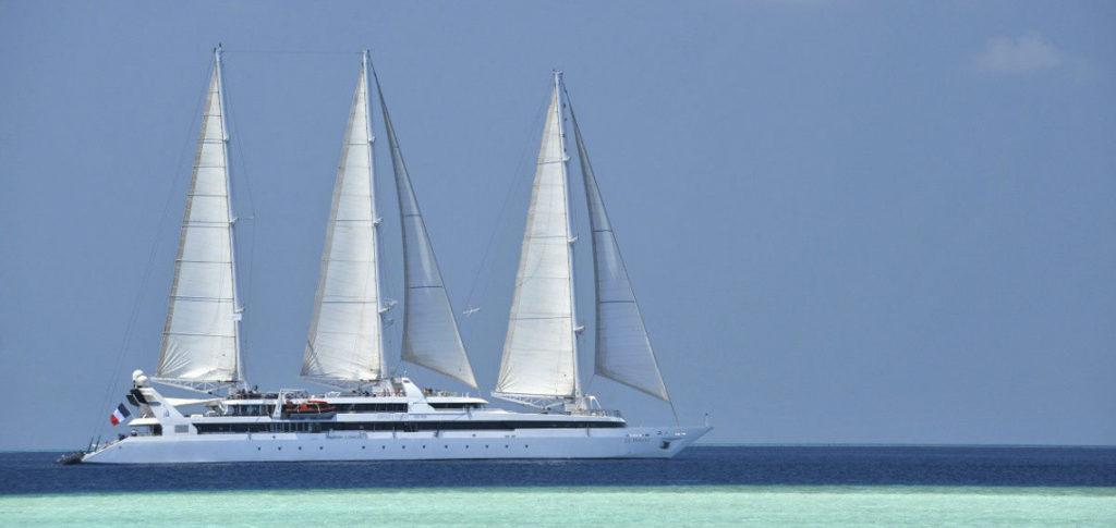 Le Ponant Kreuzfahrtschiff zeigt den 3 Master