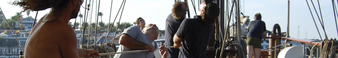 Betriebsausflug Bild zeigt Gäste bei einem Sailtraining