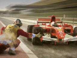 Segelkreuzfahrt zum Grand Prix ROYAL CLIPPER - zeigt einen Formel 1 Boliden beim Rennen