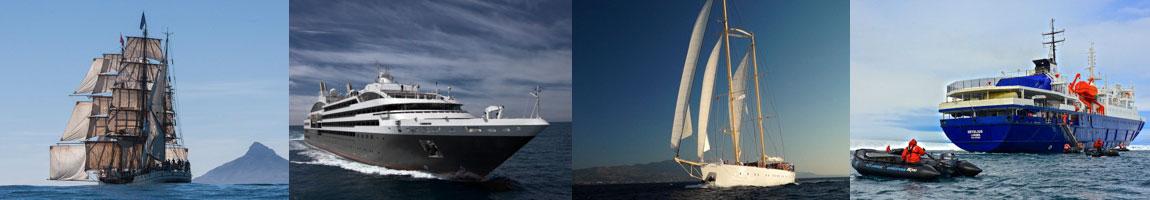 Schiffsreisen | Mitsegeln | Kreuzfahrt Bild zeigt verschiedene Schiffe