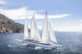 Schiffsreisen buchen zeigt die Segelyach Le Ponant