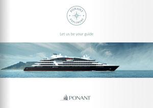 Ponant Image Broschüre zeigt Megayacht