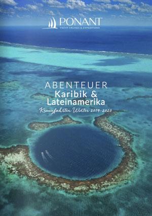 Ponant Kreuzfahrt Katalog Karibik zeigt eine Lagune