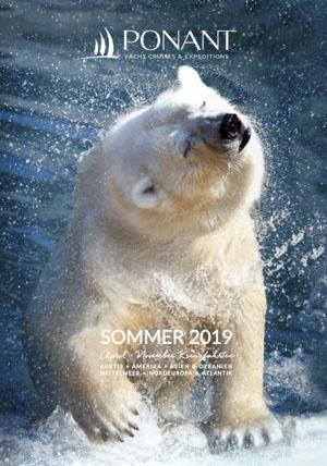 Ponant Kreuzfahrt Katalog Sommer 2019 zeigt einen Eisbären